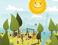 Helle Oase Frühlingsfest Poster