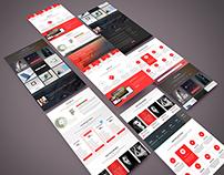Web template design UI (Free psd)