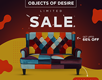 Furniture Product Sale Marketing Poster Design