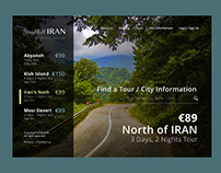 Beautiful Iran website UI/UX Design