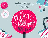 Sticky Lollipop - Typeface