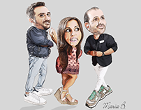 Breakfast Club Greece caricatures