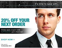 ALPHAMALE Skincare Email Newsletter