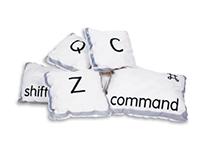 Computer Key Pillows