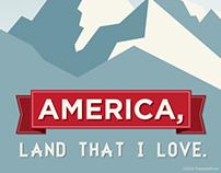 Digital Illustration | God Bless America
