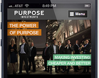 Purpose Investments mobile site