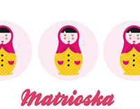Ilustración vectorial de Matrioska