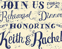 Rehearsal Dinner Invitations for Keith & Rachel