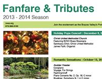 Fanfare & Tributes Poster Design (2013)