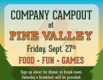 Company Camp-out Flyer