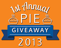1st Annual Pie Giveaway Logo