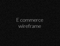 E commerce Wireframe