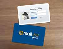 ID cards design for Mail.ru Group employee
