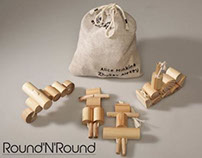 Round and round - wooden toy