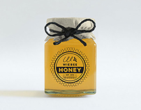 Wiebee Honey, logo and label design