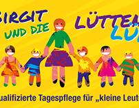 """Visitenkarte """"Gezeichnet"""", Birgit und die lütten Lüd"""