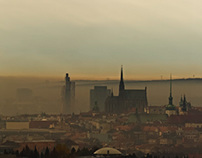 SMOG NAD BRNEM/ SMOG ABOVE BRNO; panoramatic