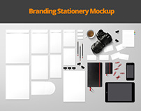 Branding Stationery Mockup - top view