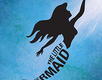 The Little Mermaid typographic poster