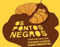 Poster e t-shirt promocionais para Os Pontos Negros