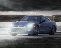 NIssan GT-R Photoshop Composition | Effects Painting