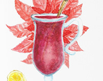 Mulled Wine watercolor