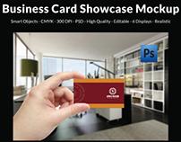 Business Card Showcase Mockup