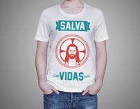 Camiseta - Jesus Salva Vidas