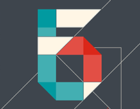Display Typeface Ribbon-Origami