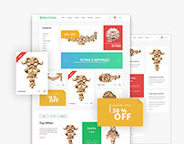 Oyma carvings store design UI/UX