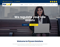 Homepage for a Finance Company