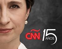 Campaña de presentadores en CNN 15 años