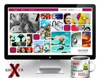 Flash XML Website Landing page