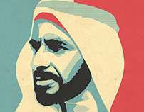 Sheikh Zayed bin Sultan Al Nahyan Tribute Poster