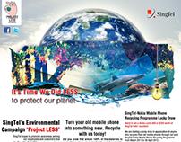 Web Design | SingTel Singapore - ProjectLess