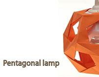 Pentagonal paper lamp