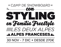 Styling's snowboard camp
