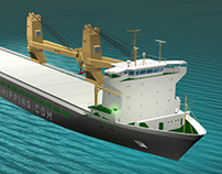 SAL Shipping GmbH | 3D of Heavy Lift Cargo Ship