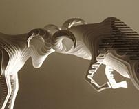 Bighorn Ram Fight