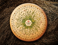 cheese label illustration