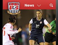 US Soccer . website