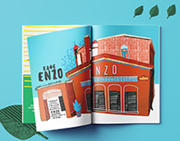 """Book Design """"Guide about Minsk places"""""""