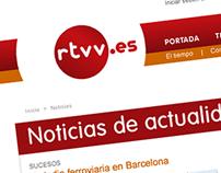 Diseño Interacción Portal Radio Televisión Valenciana
