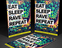Eat Sleep Rave Repeat -poster