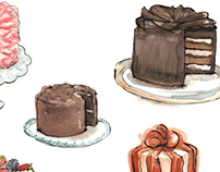 Food and Cake Illustrations