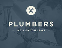 Plumbers Logo Mockup - Learning Knockout Techniques