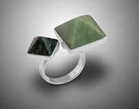 Jade-Silver Rings-Product Photography