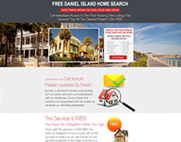 Landing Page home real estate web design