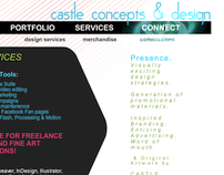 Castle Concepts & Design Portfolio Web Site