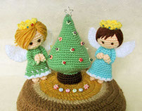 Miniature Christmas Tree & Angels